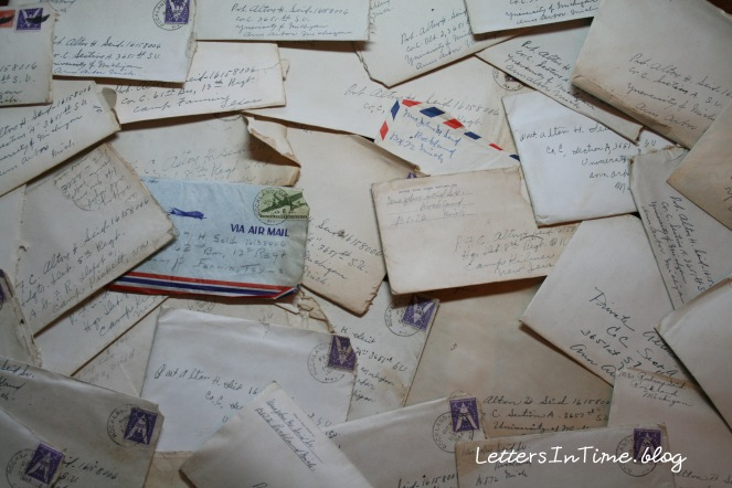 Envelopes with text